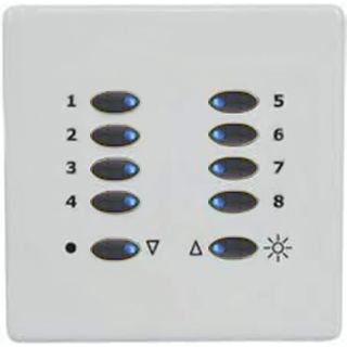 Mode TP-SGP-55-BLK-WHT Tiger Switch Plate with White Facia Plate (10 Black Buttons, Single Gang)