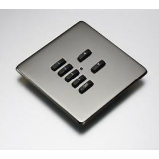 Rako RLF-xxx-BN Black Nickel Fascia Cover Plate for Rako RMC & RCN Wireless Wall plates - with Hidden Screws