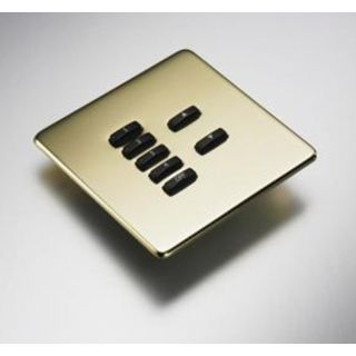 Rako RLF-xxx-PB Polished Brass Fascia Cover Plate for Rako RMC & RCN Wireless Wall plates - with Hidden Screws