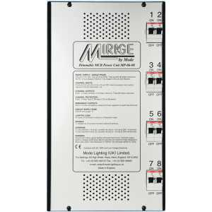 Mode Mirage Dimmable Power Unit MP-06-08-RCBO (8 Channels of 6 Amps, Inductive 6 Amps with RCBO's)