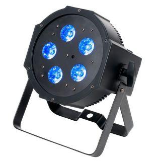 ADJ MEGA QPLUS GO - 5x 4-Watt, 4-in-1 RGB+UV LEDs battery powered Par fixture
