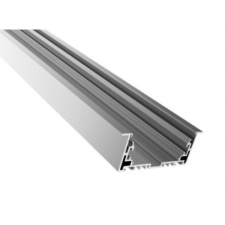 ALU-9435R 2.5m Aluminum Profile For LED, 94mm x 35mm, IP20, Suitable For Recessed Ceiling Mounted
