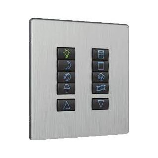iCON Switch Plate -  ICN-SGP-20-BLK-CLS - Black 2 Black Buttons, Classic Layout, Single Gang, Excluding Fascia Plate