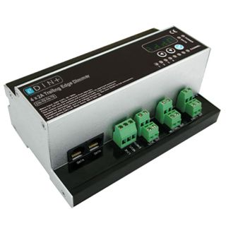 Mode Lighting DIN-02-04-TE-PLUS eDIN 4x2A Trailing Edge Dimmer 4 Trailing Edge Channels of 2 Amps Module Load 6A
