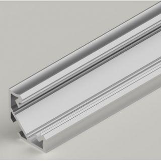 2m Aluminium LED Strip Angle Corner Profile 45 Degree - Impact Resistant