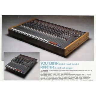 Vintage Hill Soundmix 24 Channel Audio Desk with PS1 48V Supply 4 Buss 24:4:2:1 (second hand)