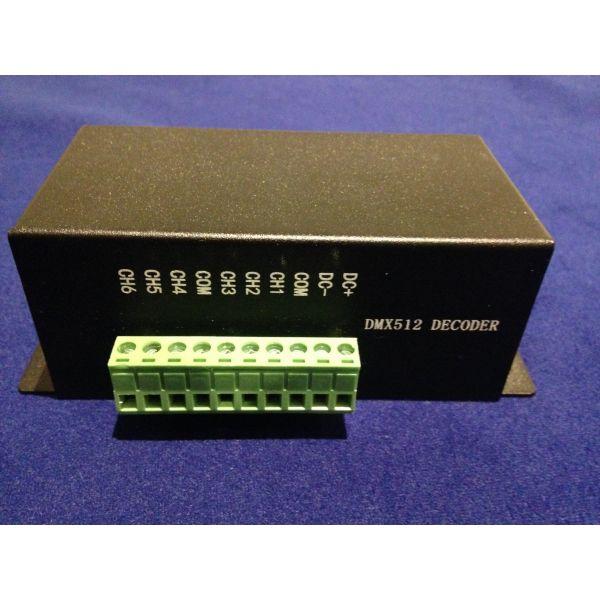 LED-DECODER-D6PWM LED DMX-PWM Decoder for LED-PX03W-12MM  controls LED RGB DMX Pixels