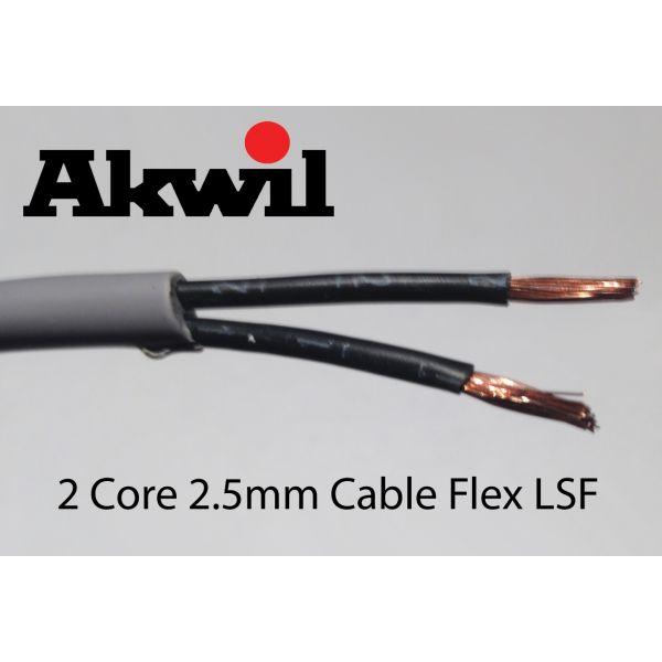 100m 2.5mm Stranded 2 Core Cable Flex Drum