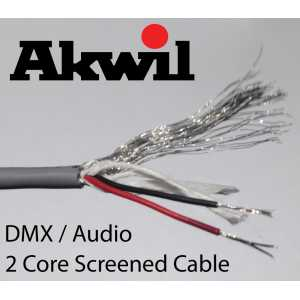 100m 2 Core Screened DMX Cable Flex Drum