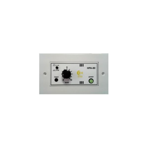 HPA-80 Wall Plate - 40 watt per channel stereo amplifier in a 100mm Euro format.