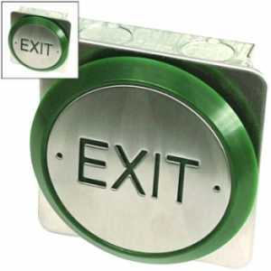 All Active Small Push Plate Exit Button EBPP02
