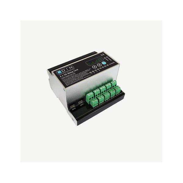 Mode eDIN 4x5A Feed-through Relay (1 x DPCO and 3 x SPCO volt free relays)