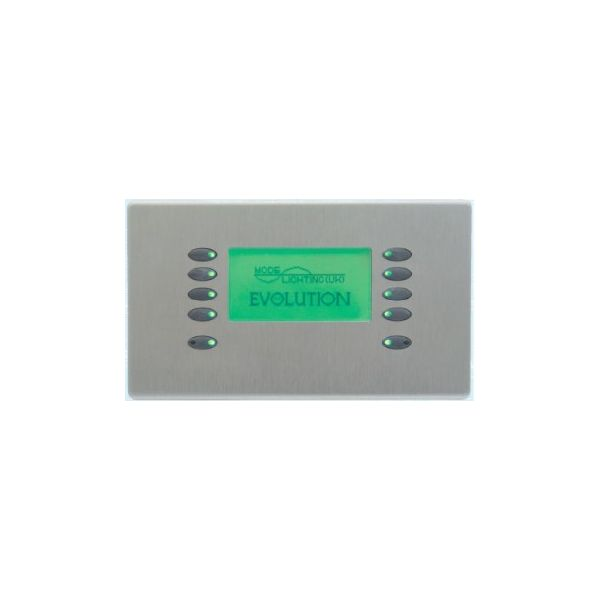 Mode Evolution LCD Fascia EVO-L-BSS-55 (10 Buttons, Twin Gang, MK Aspect Brushed Stainless)
