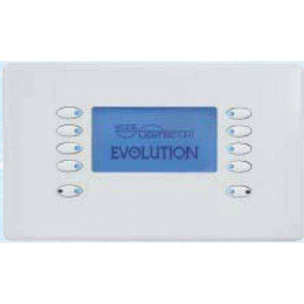Mode Evolution LCD Fascia EVO-L-WHI-55 (10 Buttons, Twin Gang, MK Aspect White)