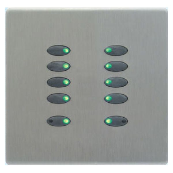 Mode Evolution Switch Plate - Black (10 Black Buttons, Single Gang, excluding Fascia Plate)