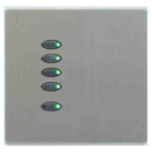 Mode Evolution Switch Plate - Black (5 Black Buttons, Single Gang, excluding Fascia Plate)
