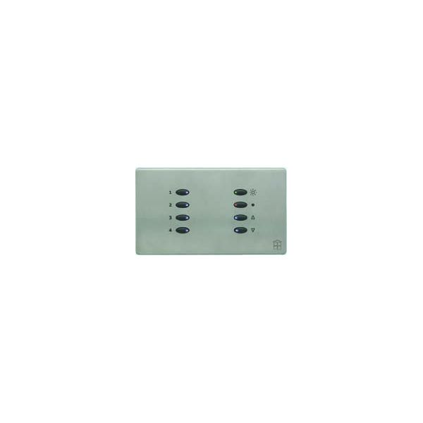 Mode SceneStyle4 Fascia SCE-04-BSS-44 (8 Buttons, Twin Gang, MK Aspect Brushed Stainless)