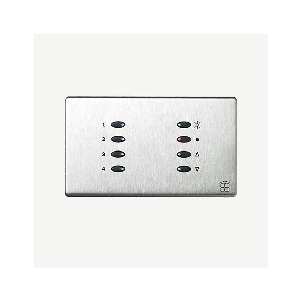 Mode SceneStyle4 Fascia SCE-04-POC-44 (8 Buttons, Twin Gang, MK Aspect Polished Chrome)