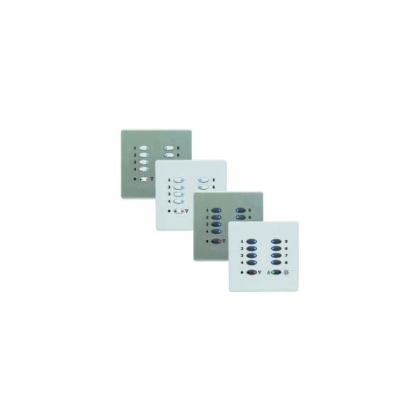 Mode Switch Plate - White (10 White Buttons, Single Gang, excluding Fascia Plate)
