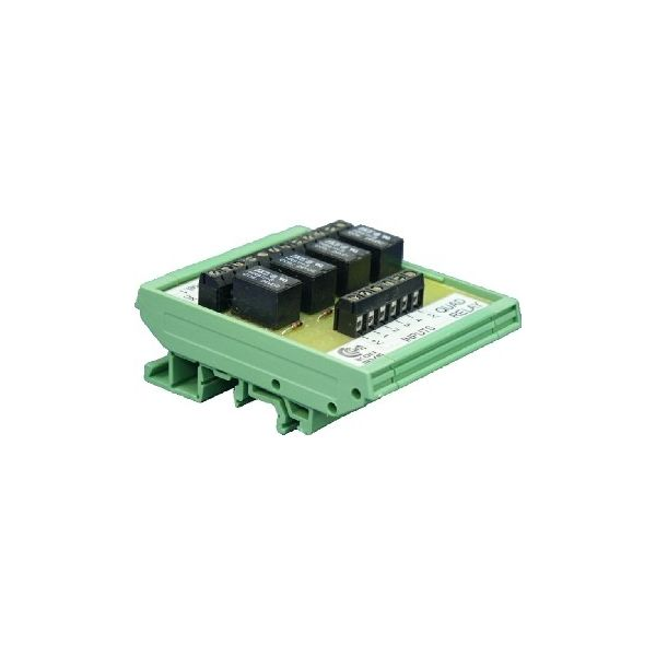 DM-485 RS232 to RS485 interface on din rail base