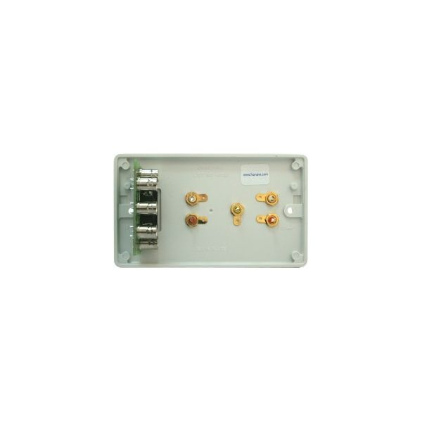 DADO-2G-P Twin gang version of Dado-1G with Video and Audio sockets