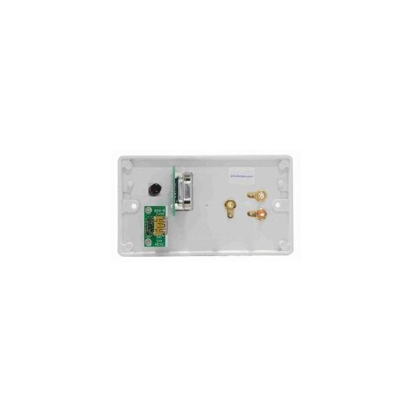 DADO-2G-HDMI-J DADO-90P and HDMI-90BB adaptors on Engraved 2G panel, with