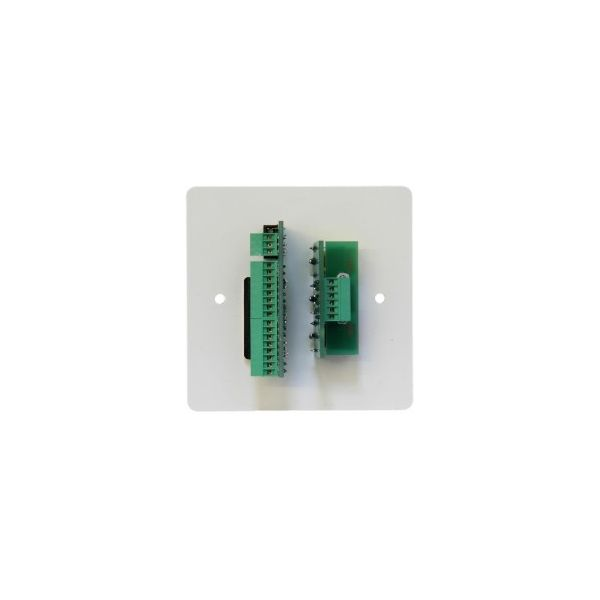 DADO-1G-STA 1G white steel panel with PC, PC Audio, Video and Audio all on screw terminals