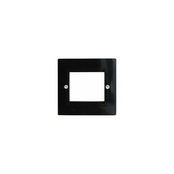 EP-50FW White plastic single gang euro frame for 1 x 50mm or 2 x 25mm