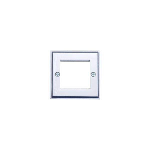 EP-50FSC Satin chrome single gang euro frame with 50mm space