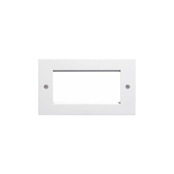 EP-100FW White plastic double gang euro frame for 2 x 50mm or 4 x 25mm