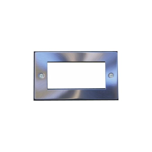 EP-100FSC Satin chrome double gang euro frame with 100mm space