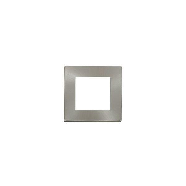 DEF-50SC Screwless Satin chrome single gang euro frame