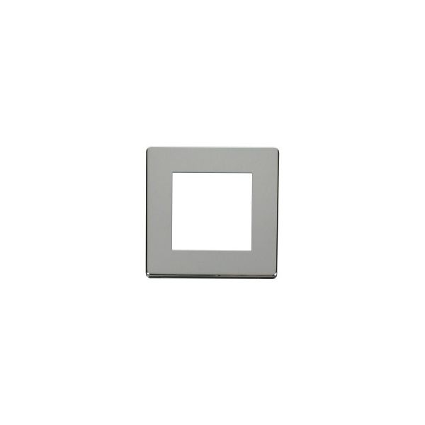 DEF-50PC Screwless Polished chrome single gang frame