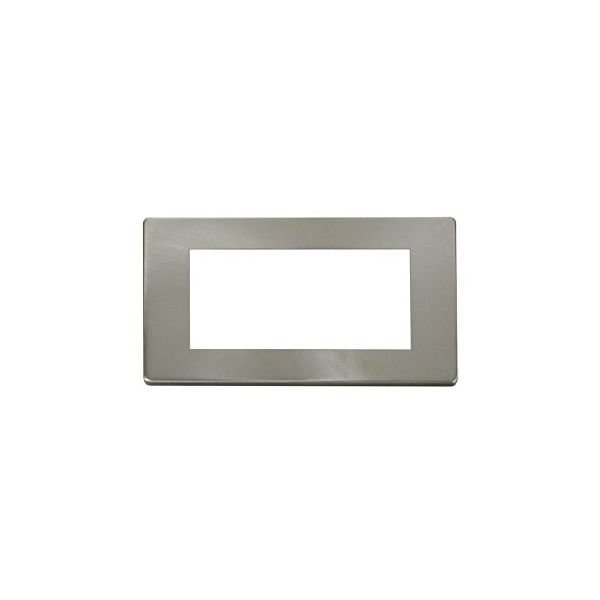DEF-100SC Screwless Satin chrome double gang euro frame