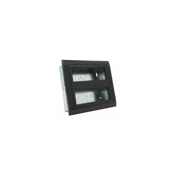 EP-12-GB 2 row, 12 gang euro frame in Black, with back box
