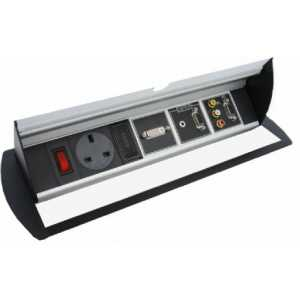 RDM-6H Horizontal, flip lid module with 13A socket and 150mm space