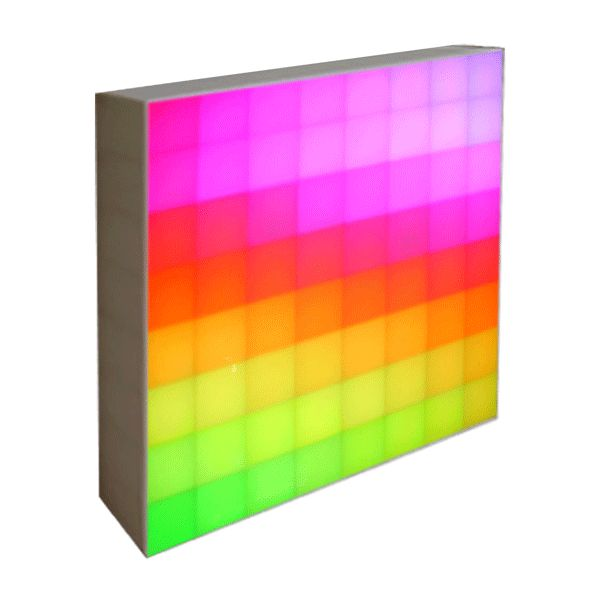 LED RGB DMX 512 - 64 Pixel Display Magnetic Wall Panels - 500mm x 500mm Full Colour LED Display Light Panels for Video Walls