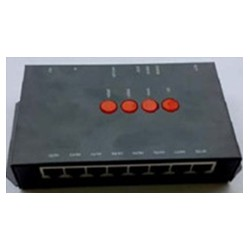 Standard Led RGB DMX 512 - 64 Pixel Display Master Controller with SD Card Program Control