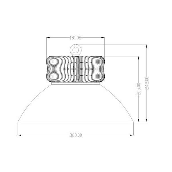 100W LED High Bay Flood Lighting High Lumen 11000lm - Aluminum Heat Sink - Cool White LED - Warm White LED or Neutral White LEDs