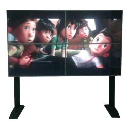 "4x46 inch 3D HD Holographic Display Wall 1080p 8 Lens Lenticular Video Display TV - 46"" glasses-free 3D HD Auto-Stereoscopic"
