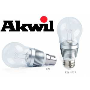 New AK-7W Akwil Dimmable 7W 500lm Sharp LED True-fit, 330 Degree, Frosted High Lumen Light Bulb, 0-265V AC