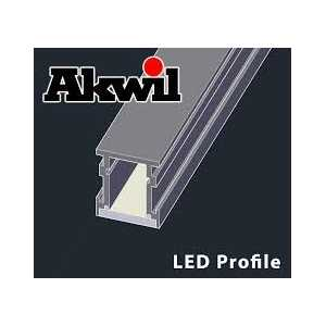 2m Akwil Custom Black Aluminium Surface Profiles for LED Strips with diffusers