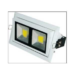 Flush Rectangular 38W LED Downlight Fitting High Lumen 90 Degree 3200lm Angle Light