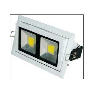 Flush Rectangular 38W LED Downlight Fitting High Lumen 90 Degree 3200lm Angle Light