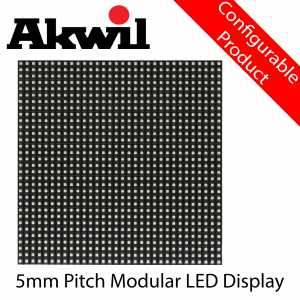 AK-P5 Akwil 5mm LED Fixed LED Display Panel Solutions 160mm x 160mm
