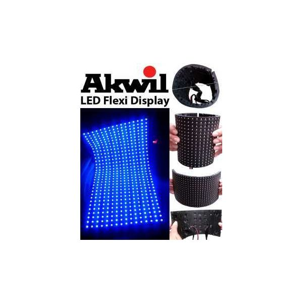 AK-6F Akwil 6.67mm Pitch LED Flexi Display Flexible Display Panel Solutions 192mm x 96mm