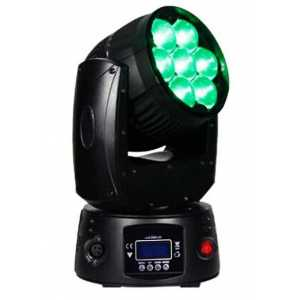 120W LED Moving Head RGBW Projector 7 - 60 Degree Zoom Beam Angle Spot or Wash