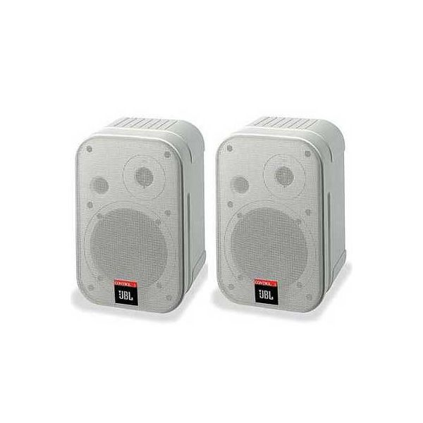 JBL Control 1 Pro (White) Pair 2x 150W Two-Way Professional Compact Loudspeaker System