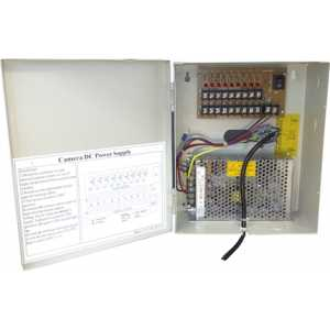 10amp 12v Metal Boxed PSU. 9 outputs