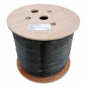 250m CAT6 Cable UTP 23AWG PE Solid CU Black